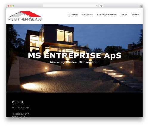 WordPress theme Upsurge - ms-entreprise.dk