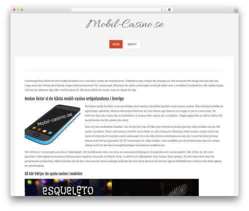 WP theme Sneak Lite - mobil-casino.se