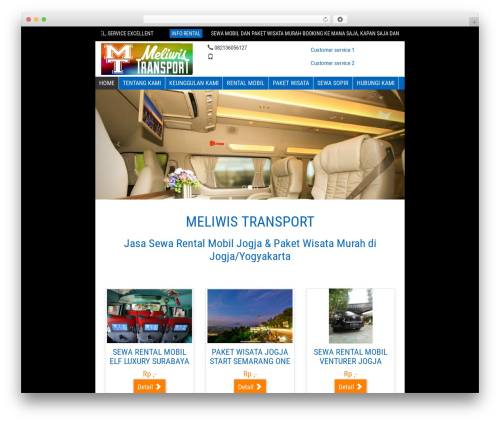 WP-Wisata WordPress travel theme - meliwistransport.com