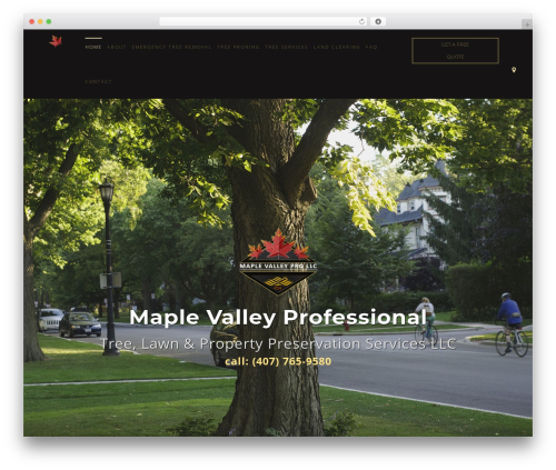 Arborist 2 - V8 top WordPress theme - maplevalleypro.net