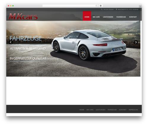 Automotive best WordPress template - mkcars.de