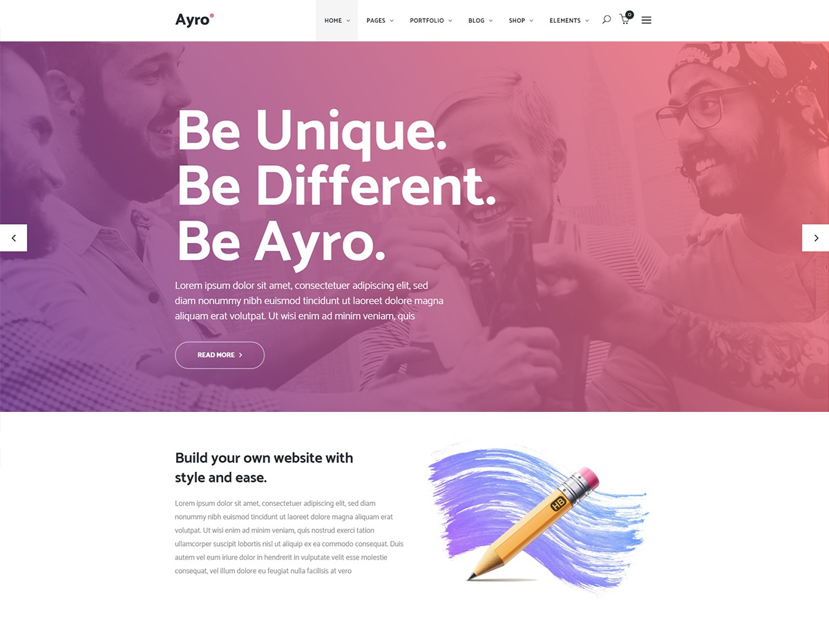 Ayro business WordPress theme
