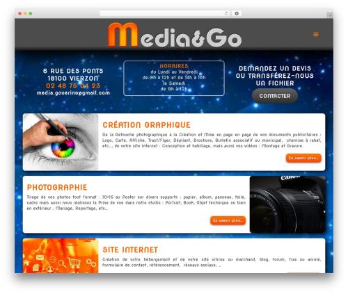 Best WordPress template Jupiter - media-go.fr