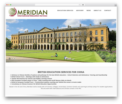 Best WordPress template Meridian - meridian-education.com