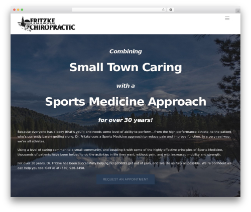 Best WordPress template Themify Ultra - mountshastachiropractor.com