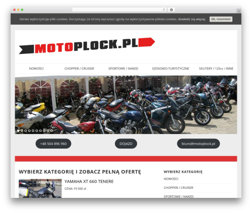 Best WordPress theme SmartShop - motoplock.pl