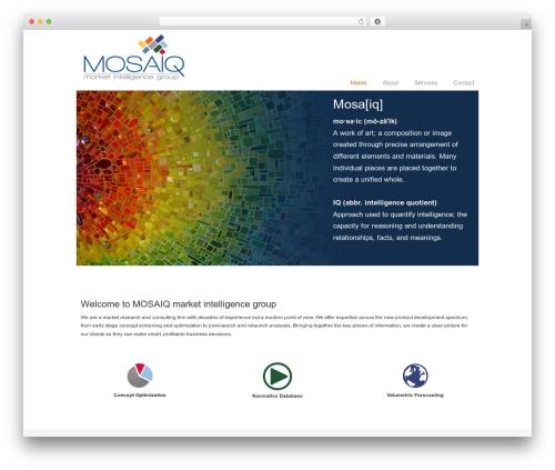 Chalong WordPress theme - mosaiqresearch.com