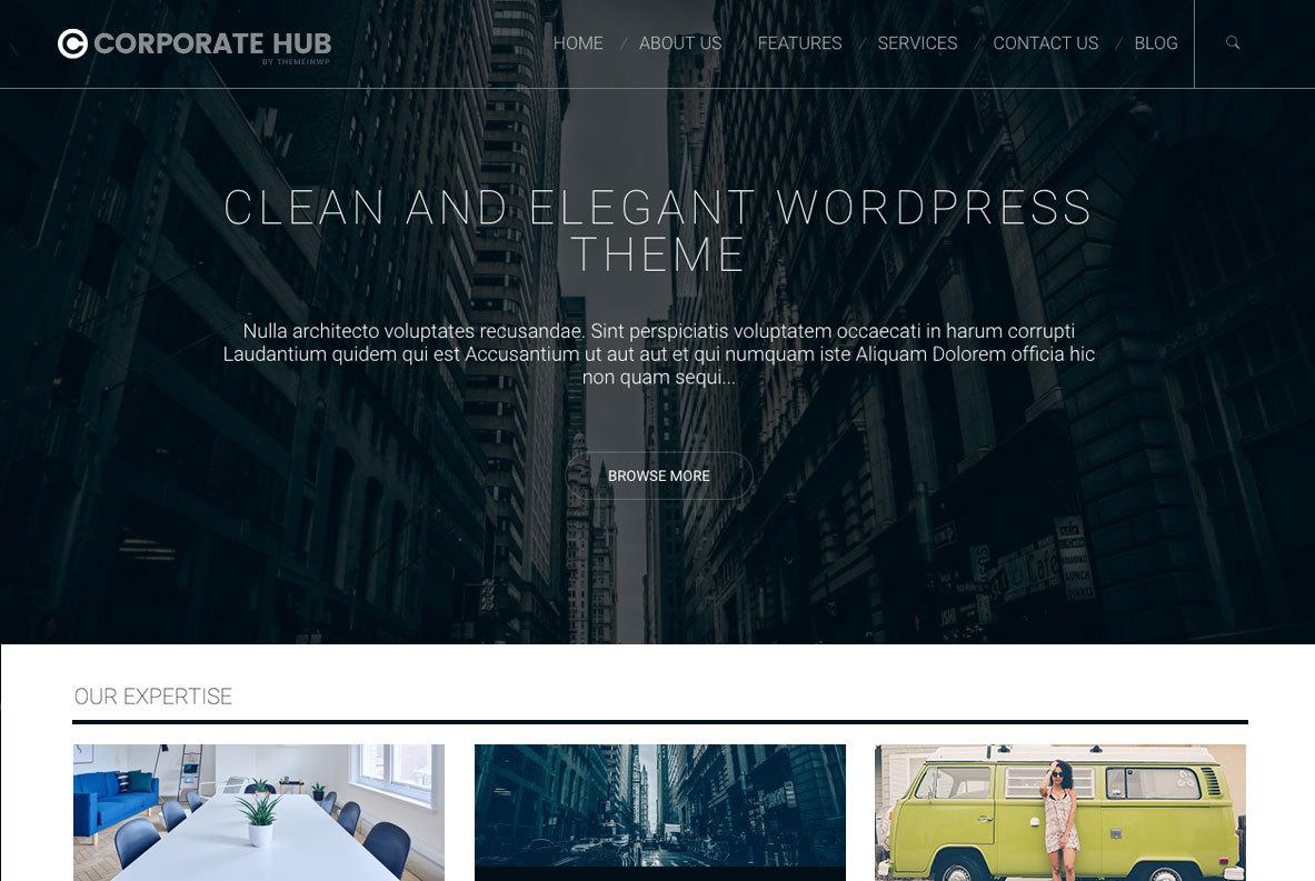 Corporate Hub personal WordPress theme