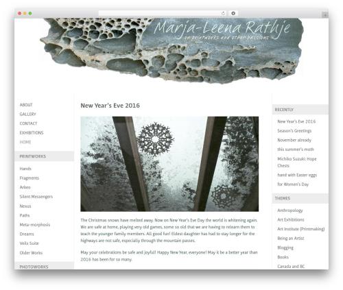 Custom Community free WordPress theme - marja-leena-rathje.info