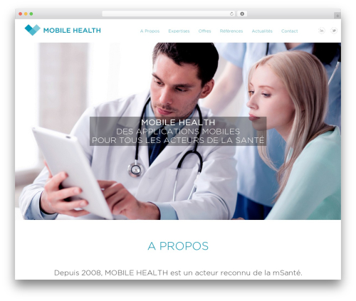 Dante WordPress page template - mobile-health.fr