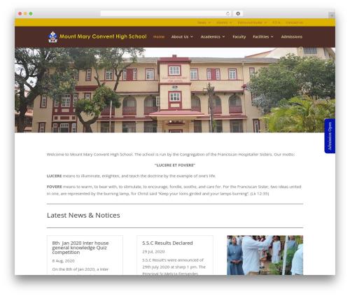 Divi WordPress page template - mountmaryconventhighschool.org