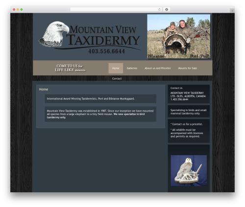 eGallery photography WordPress theme - mountainviewtaxidermy.com