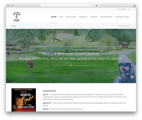 Free WordPress Gutenberg plugin - mountbrentongolf.com