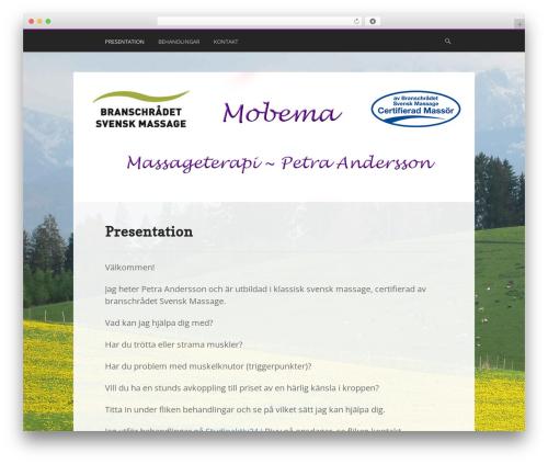 Ex Astris massage WordPress theme - mobema.se
