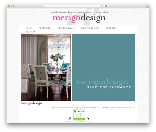 Genesis WordPress theme - merigo.ca