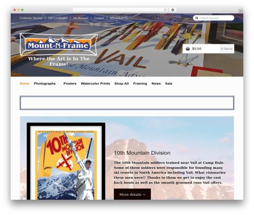 Homestore WordPress shopping theme - mountnframe.com