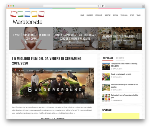 LiveBlog free WP theme - maratonadelriso.it