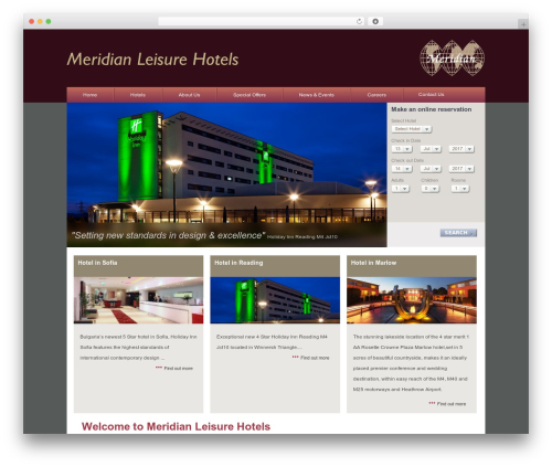 Meridian WordPress hotel theme - meridianleisurehotels.com