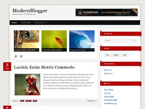 Modern Blogger WordPress Theme WordPress blog theme