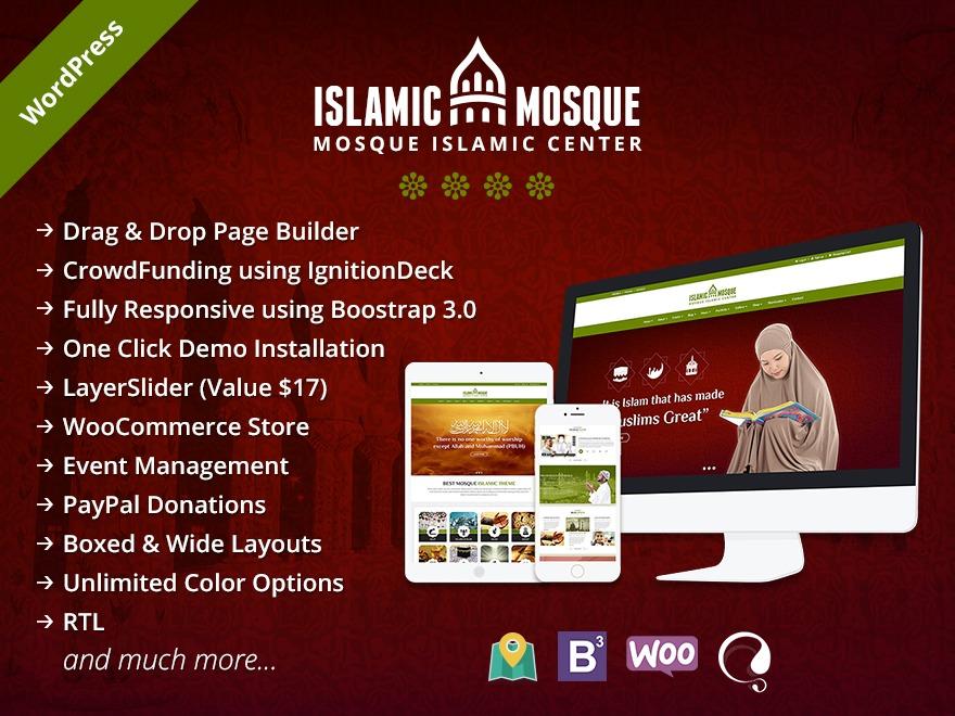 Mosque Wordpress Theme WP theme