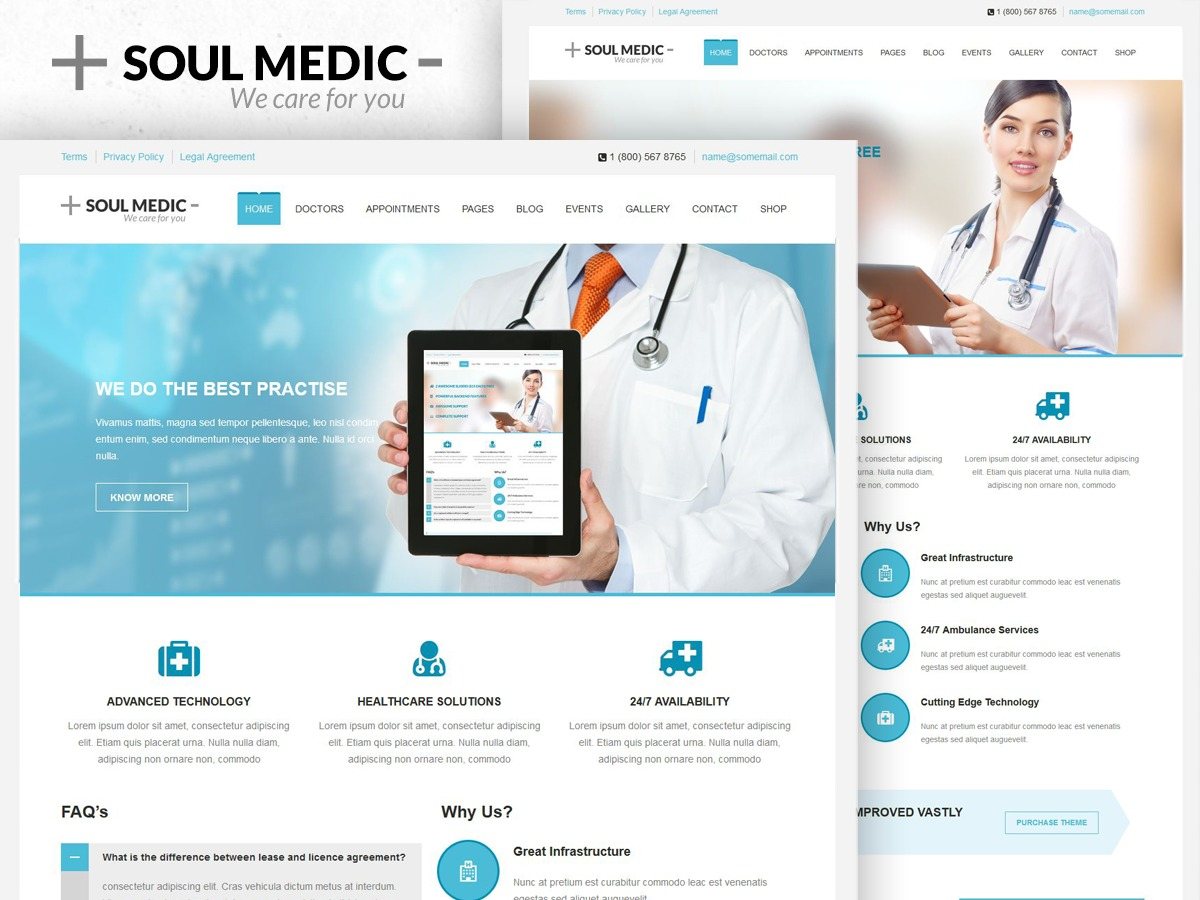 Soulmedic medical WordPress theme