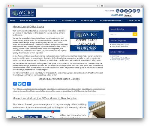VLM WordPress theme - mountlaurelofficespace.com