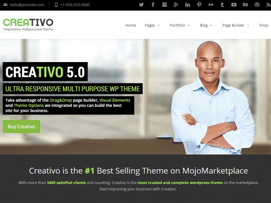 WordPress theme Creativo 5.0 (shared on themelot.net)