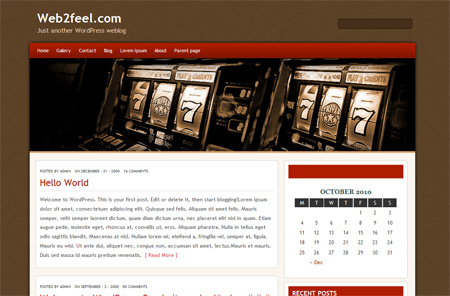 WordPress theme Slotmania