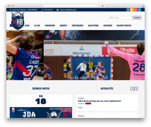 WordPress theme Sports Club - merignachandball.fr