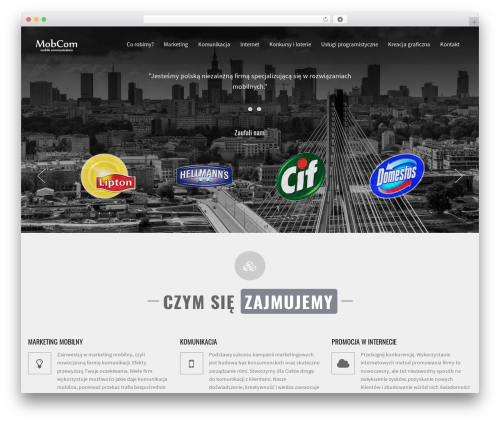 WordPress website template Identity - mobcom.pl