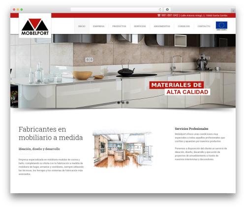 WordPress website template WebFlow - mobelport.es