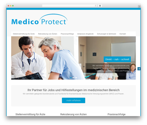 WP theme Accelerate - medicoprotect.de