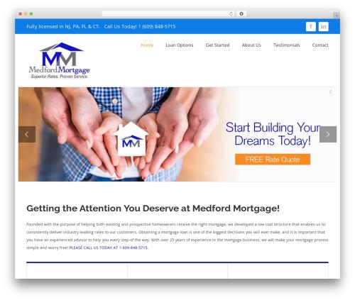 WP theme Avada - medfordmortgage.com