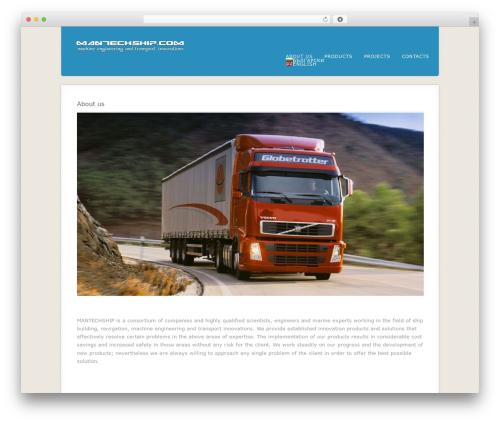 Acoustic WordPress template - mantechship.com
