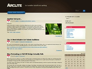 Arclite WordPress page template