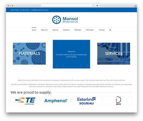 Avada WordPress page template - mansol-preforms.com