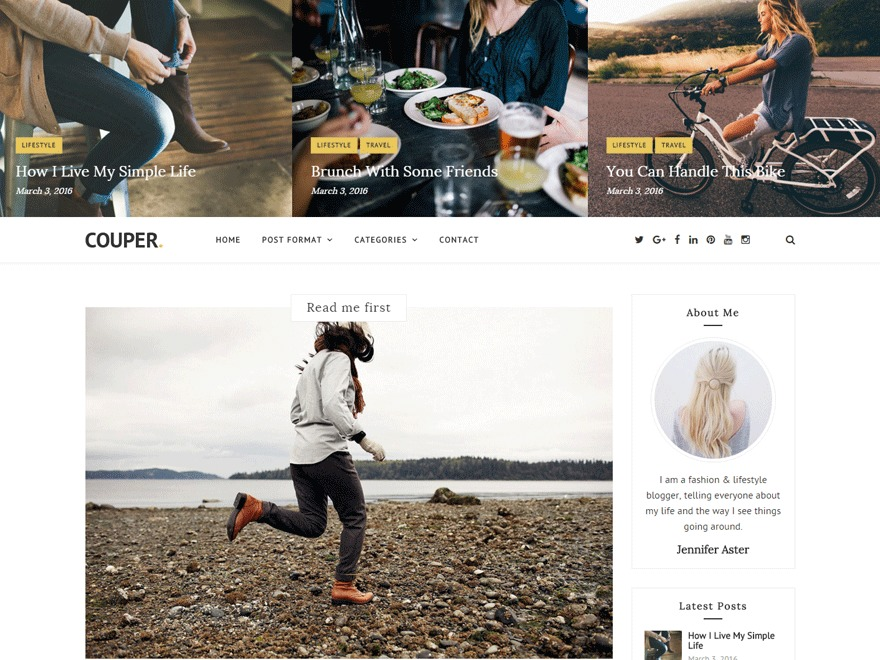 Couper WordPress blog template