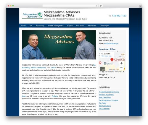 Customized medical WordPress theme - mezzcpa.com