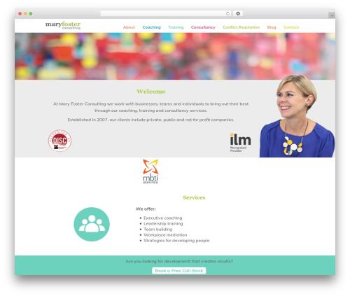 Customizr free WordPress theme - maryfosterconsulting.com