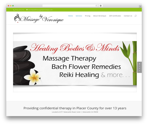 Divi massage WordPress theme - massagebyveronique.com