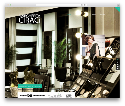haircare WordPress website template - margheritaciraci.it
