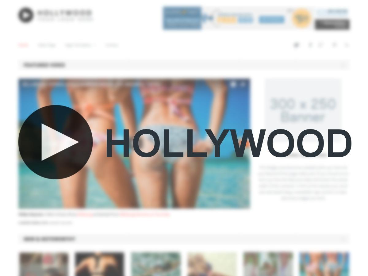 Hollywood WordPress video template