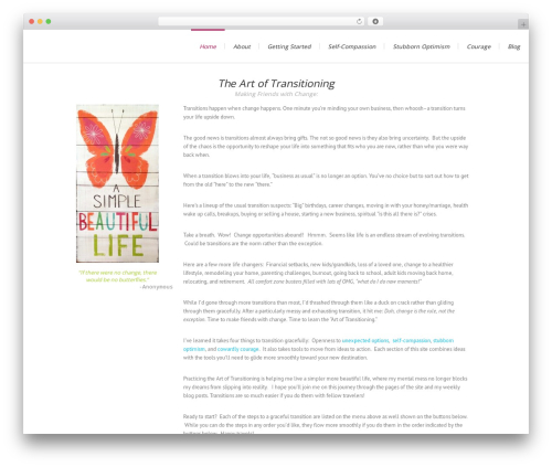 Lounge WordPress website template - marihenninger.com