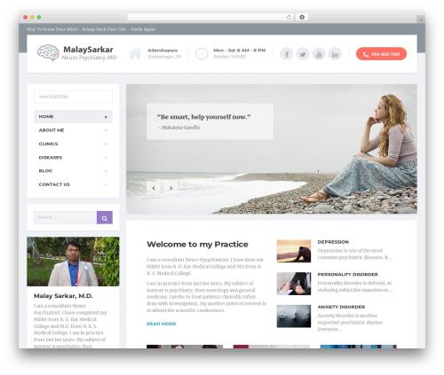 MentalPress WP Theme WordPress theme - malaysarkar.com