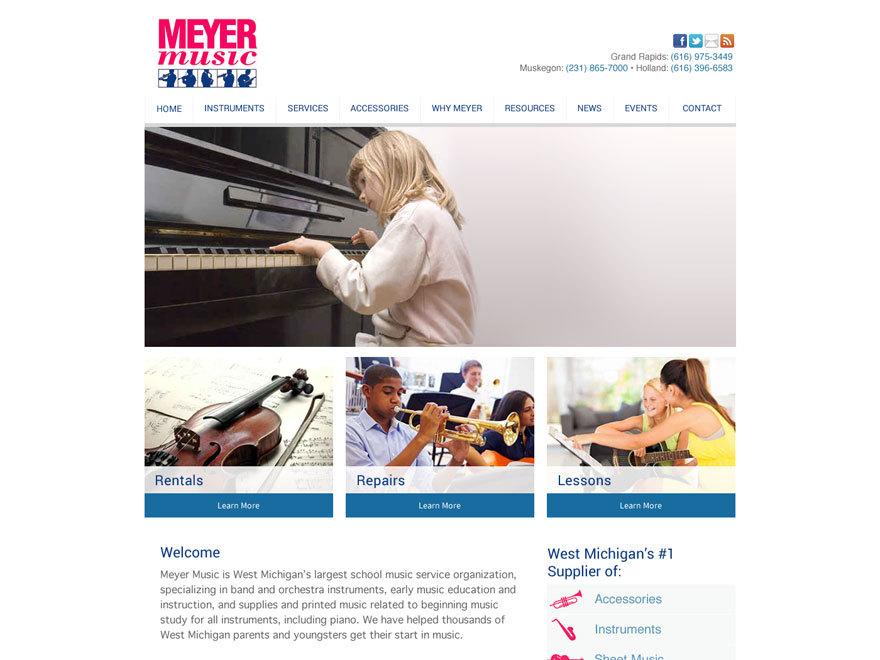 meyer music 2014 theme wordpress by the imagination factory