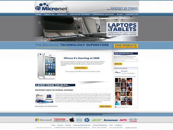 Micronet best WordPress theme