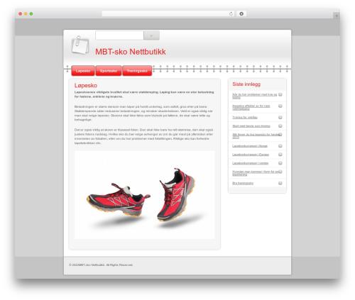 Modern Notepad WordPress theme - mbtsko-nettbutikk.org