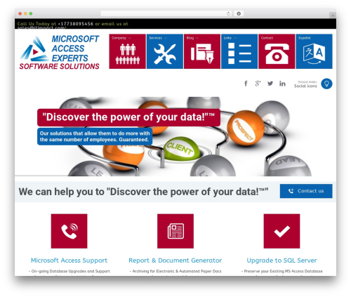OneTouch Revision 2 WordPress theme design - microsoftaccessexperts.com