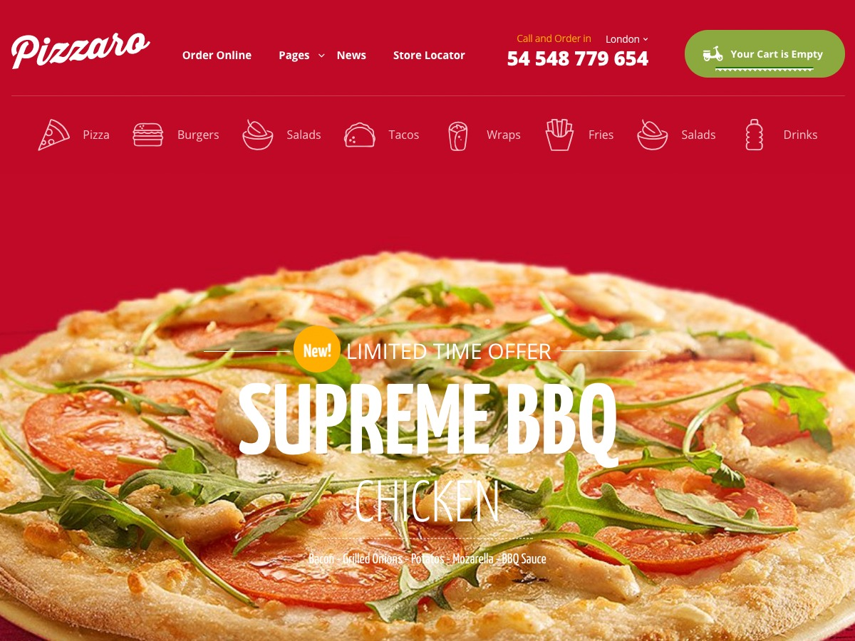 Pizzaro best WooCommerce theme