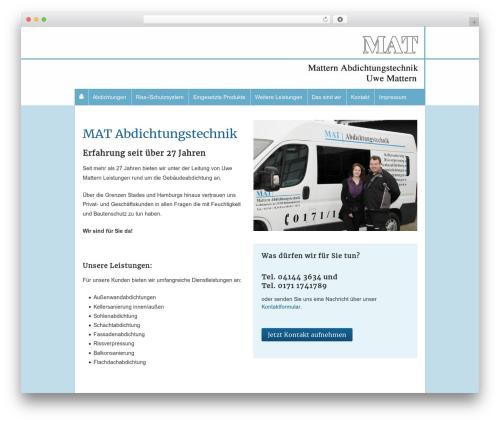 Responsive template WordPress free - mattern-abdichtungstechnik.de